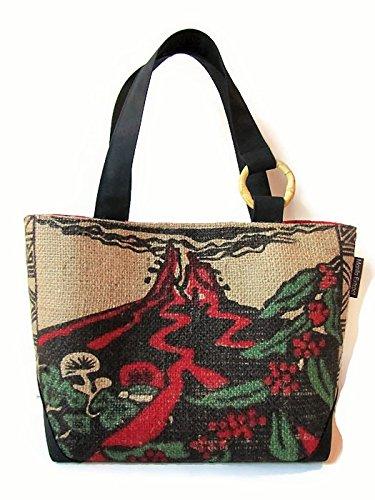 80c1a1904c2 Amazon.com: Repurposed Coffee Bag and Small-Tote. Kilauea Volcano. Handmade  in Hawaii by Manila Extract.: Handmade