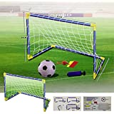 Kids Children Football Goal Post Net Ball With Pump Whistle Toy Indoor / Outdoor Soccer (Double / Twin)