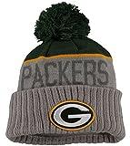 Green Bay Packers New Era Gray Cuffed Sport Pom Knit-10585