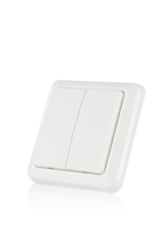 Trust Smart Home 71075 Trust AWST-8800-Interruptor de Pared inalá mbrico, Blanco