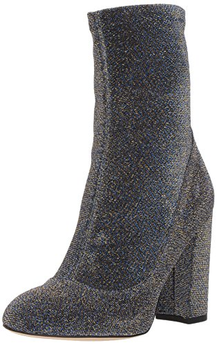 Sam Edelman Women's Calexa Fashion Boot, Blue/Gold Glitter Fabric, 7 Medium US