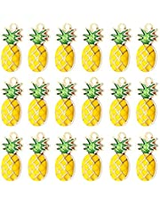 TOYANDONA Pineapple Alloy Charms Gold Alloy Fruit Pineapple Pendants Charms Beads for Bracelet Necklace Jewelry Making Crafting 20pcs