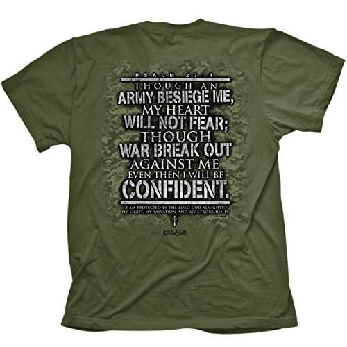 Military Cross Fear Not, Tee, MD, Military Green - Christian Fashion Gifts ()