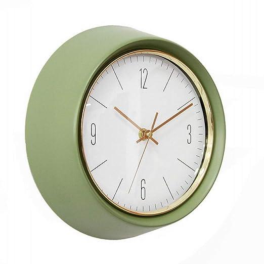 KAISIMYS Reloj de Pared silencioso Retro, Redondo, Verde ...