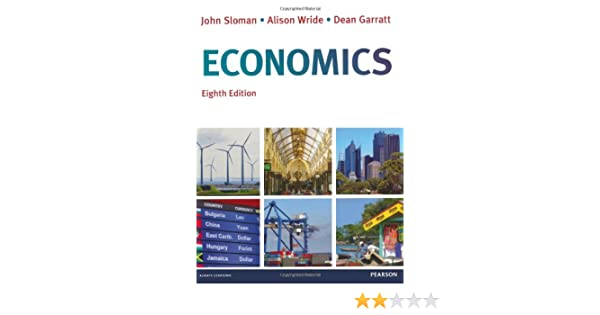 Economics textbook 8th edition by john sloman, books & stationery.