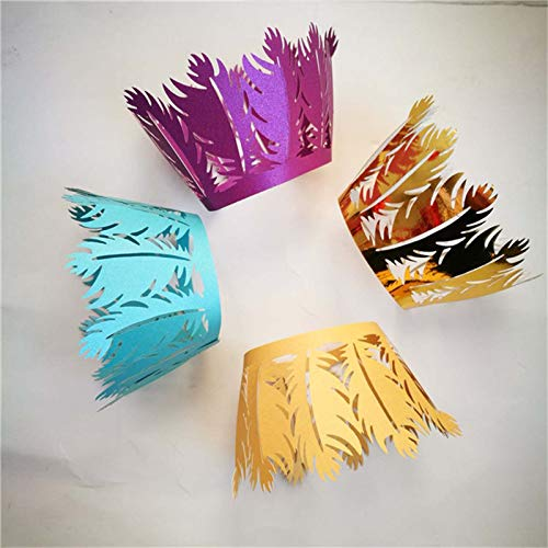 KathShop 100Pcs Laser Cut Design Cupcake Wrappers Muffin