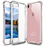 iPhone 8 Case, Jopuzia Advanced Shock-Absorbent Scratch-Resistant Cover Case with Transparent Hard PC Back Plate and Flexible TPU Gel Bumper for Apple iPhone 8 iPhone 7 4.7 Inch (Transparent)