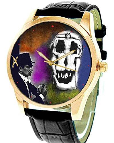 Fantástico Salvadore Dalí surrealista Erotic calavera arte coleccionable simbólico arte reloj de pulsera: Amazon.es: Relojes