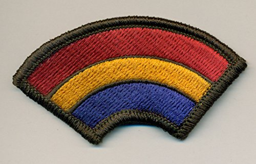 Military Army Embroidered 42nd Infantry Rainbow Embroidered Patch - Sawn only ()