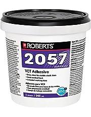 Roberts 2057-0 Adheres Vinyl-Composition & Vinyl-Asphalt Structurally Sound Plywood of Underlayment Quality Tile Glue 1 Quart