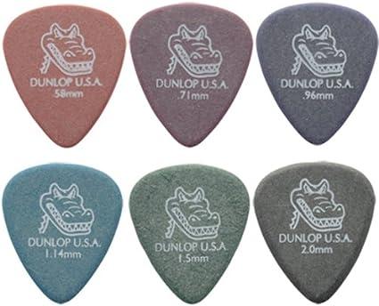 /2/de chaque taille dans une bo/îte pratique en /étain Gator Lot de 12 m/édiators pour guitare