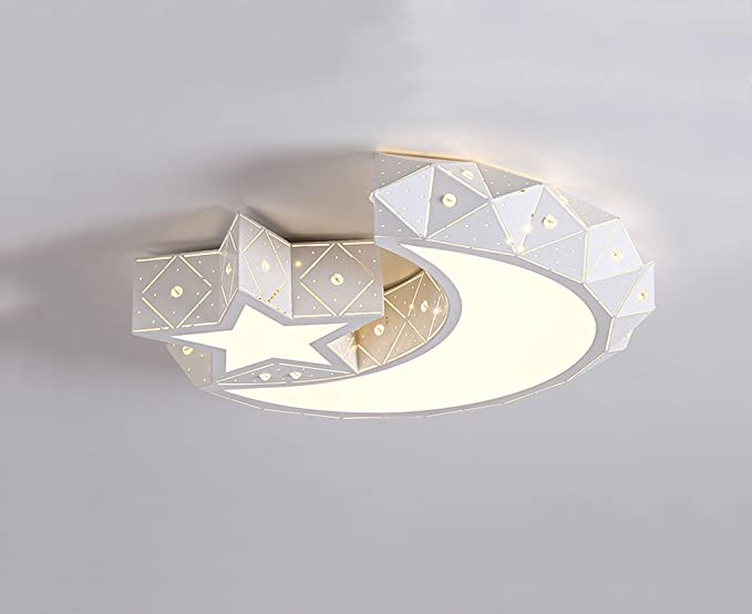 Lampadari Camera Da Letto Moderna : Lampadario camera da letto moderna star luna personalità creativa
