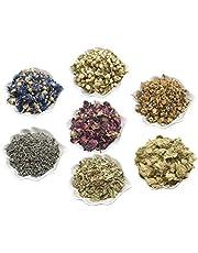 PEPPERLONELY Kosher Certified Botanical Dried Edible Flowers Lavender, Rose Buds & Petals, Jasmine, Chamomile, Cornflowers Herb Tea, Soap Making Bath Bombs