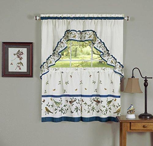 blue kitchen curtains