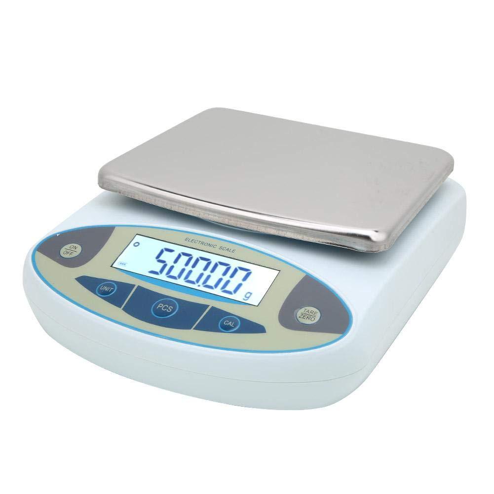 agricultura escuela EU comercio Balanza electr/ónica anal/ítica digital de laboratorio de alta precisi/ón con 2 pesas 2 kg 0.01 g para investigaci/ón cient/ífica industria