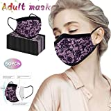 50 Pack 3Ply Lace Disposable Face_Mask for