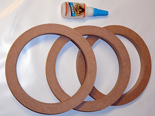 3 Case Pack Kit 6.5'' MDF Speaker Subwoofer Spacer 3/4'' Rings with Gorilla Glue by The Electronics PowerHouse