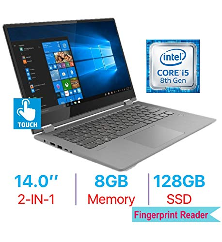 Lenovo Flex 6 14'' 2-in-1 FHD (1920x1080) Touchscreen IPS Laptop PC, Intel Quad Core i5-8250U, Bluetooth, WiFi, HDMI, Backlit Keyboard, Fingerprint Reader, Windows 10, 8GB DDR4 RAM 128GB SSD (Best Fingerprint Reader For Windows 10)