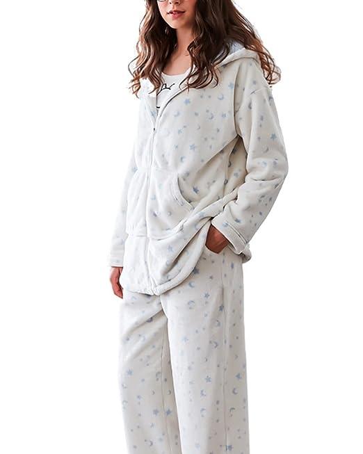 Conjunto de Pijama - con Capucha - con Orejas - Suave Cálido para Invierno Pijamas Mujer: Amazon.es: Ropa y accesorios