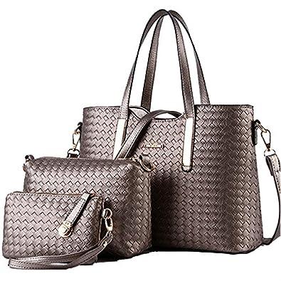 ffa721e0a5c New 2016 women handbags leather handbag shoulder bags ladies brand designs  bag Handbag+Messenger Bag+Purse 3 Sets branded FS2103  Amazon.co.uk  Shoes    Bags