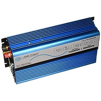 Image of AIMS Power European 1000 watt, 220 Volt 230 Volt, 12 VDC Pure Sine Power Inverter Power Inverters