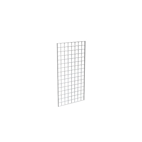 Wire Grid Panel 2/' x 4/' Chrome Retail Display Craft Gridwall Double Wire Sides