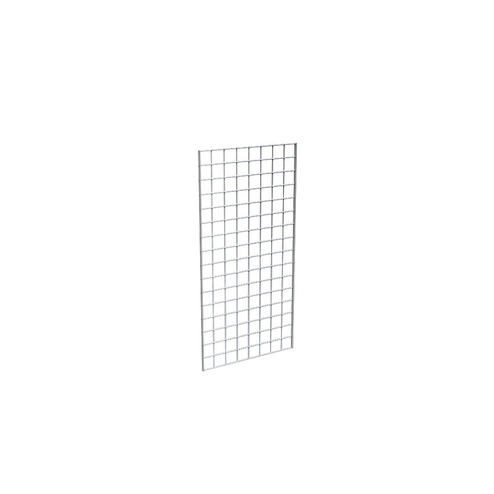 Grid Panel for Retail Display - Perfect Metal Grid for Any Retail Display, 2' Width x 4' Height, 3 Grids Per Carton (Chrome)