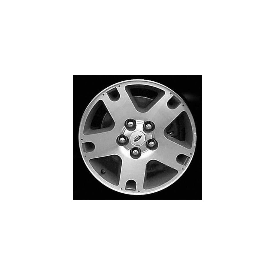 01 04 FORD ESCAPE ALLOY WHEEL RIM 16 INCH SUV, Diameter 16, Width 7, Lug 5 (5 SPOKE, WITH EXPOSED NUTS), CHARCOAL IN POCKETS, 1 Piece Only, Remanufactured , (center cap not included) (2001 01 2002 02