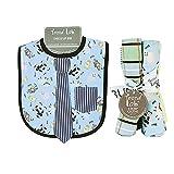 Dress Up Necktie Bib And Burp Cloth Set - Baby Barnyard