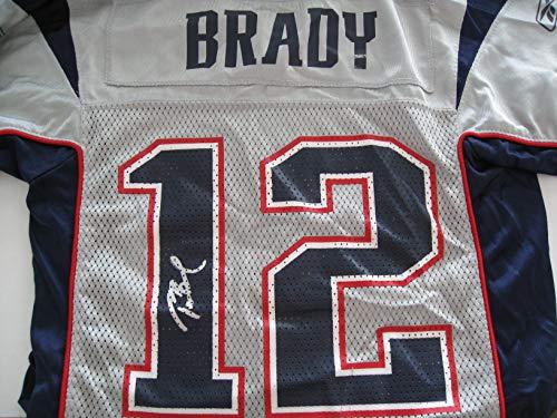 (Tom Brady Autographed/Signed New England Patriots Jersey COA)