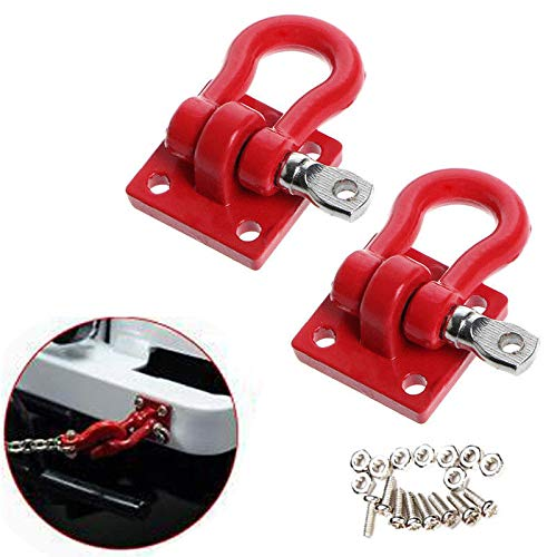 2Pcs Metal Trailer Towing Hooks Buckle for 1/16 WPL RC Car Military Truck