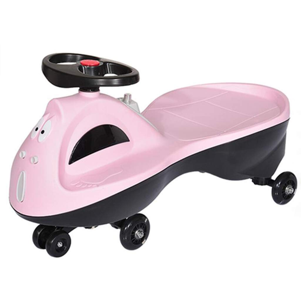 LiRuShop Bicicletas, triciclos y correpasillos Swing Car Twist Car Swing Car Mute Wheel Baby Slide yo Car echador de Ruedas 1-3 años (Color : Pink)