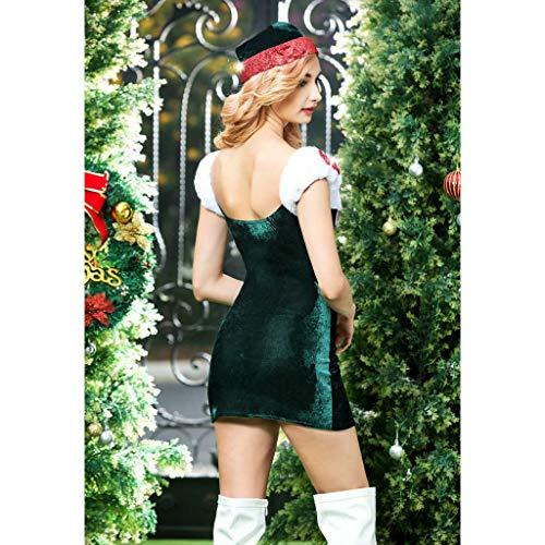Sharplace Decoración Ropa Sombrero negro Disfraces Navidad Traje de rojo Noche Interior Ropa Bowknots de Vestido aXnrng7
