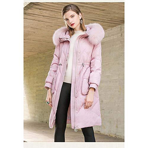 Abrigos rosa Xl Chaqueta Jacket L Mantener S Abajo Pato Cordón Blanco Mujer Capa Grande nueva Hacia M Cuello Con De Down Gruesa Pink Caliente Piel Negro OwCRxdx