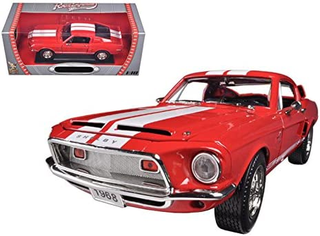 1968 Ford Shelby Mustang GT500KR Red 1/18 Car Model by Road Signature