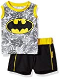 Warner Brothers Boys' 2 Piece Batman Tank and Short Set, Black, 6/9m