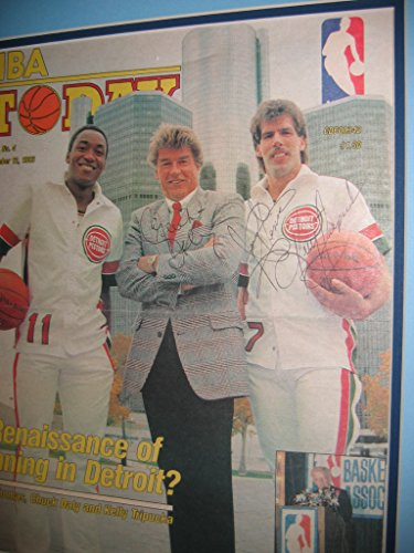 CHUCK-DALEY-D-KELLY-TRIPUCKA-Detroit-Pistons-signed-18x20-signed-12283-NBA-Today-cover-display-UACC-Registered-Dealer-212