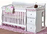 Crib Youth Bed Combo Tuscany 4-in-1 Convertible Crib N Changer in Cherry