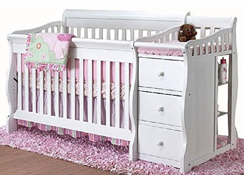 Tuscany 4-in-1 Convertible Crib N Changer in Cherry (Tuscany Crib And Changer)