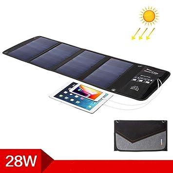 GPWDSN Cargador Solar 14W Panel Solar Doble con Puerto USB ...