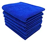 UTowels Professional Grade Premium Multi-Color Microfiber Towels 16'' x 16'' for All House Cleaning and Car Cleaning (144, Royal Blue)