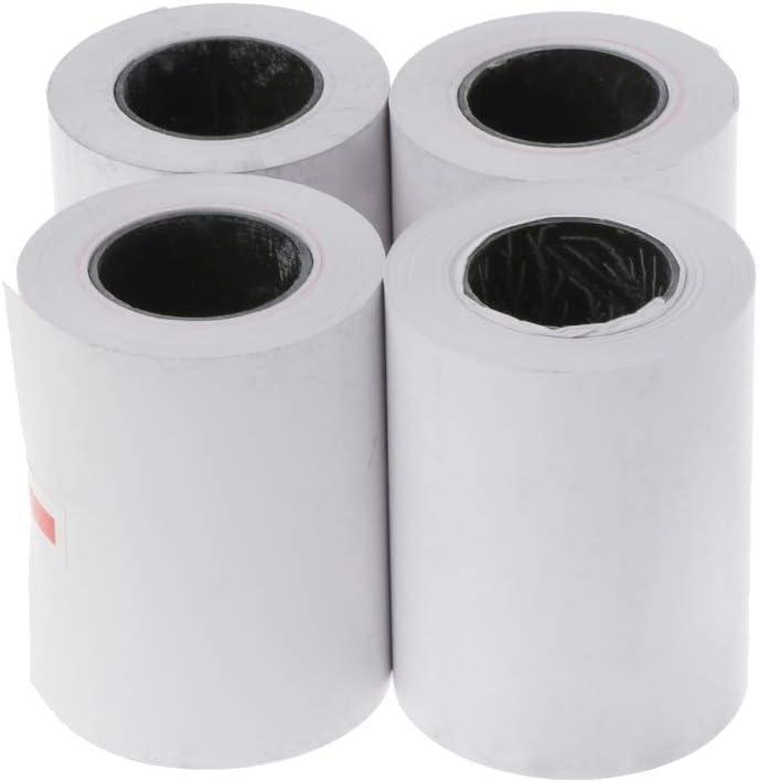4 rollos de papel térmico de 57 x 50 mm para impresora térmica de 58 mm: Amazon.es: Hogar