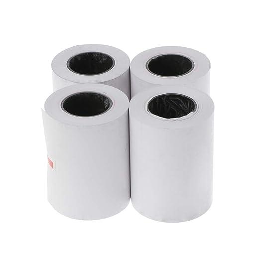 4 rollos de papel térmico de 57 x 50 mm para impresora ...