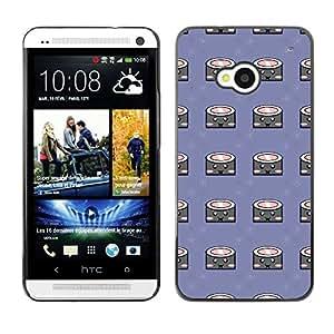 ZECASE Funda Carcasa Tapa Case Cover Para HTC One M7 No.0000819