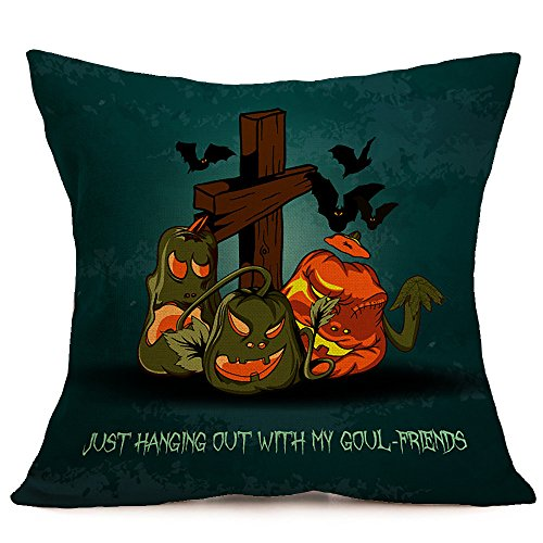 HomeMals Happy Halloween Pumpkin Throw Pillow Covers Hippy Cushion Cover Throw Floral Fall Pillow Case