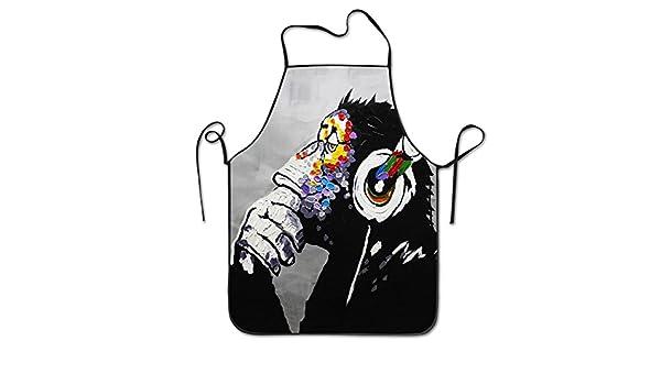 Moderno Gorilla Mono Música restaurante casa cocina babero ...