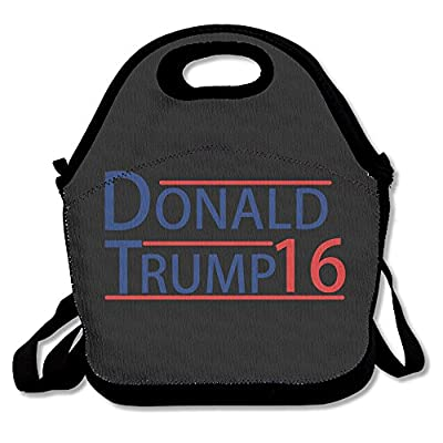 Donald Trump Lunch Bag Lunch Boxes, Waterproof Outdoor Travel Picnic Lunch Box Bag Tote With Zipper And Adjustable Crossbody Strap