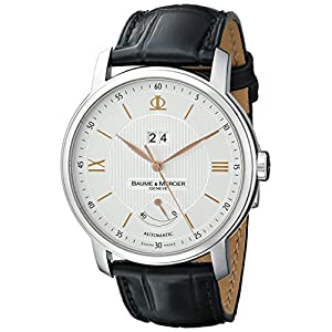 Baume & Mercier Men's A10142 Classima Swiss Automatic Watch With Black Leather Band