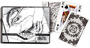 Piatnik M.C. Escher Left or Right Double Deck Playing Cards