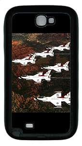 Samsung Galaxy Note II N7100 Case,Fighter Jets 5 TPU Custom Samsung Galaxy Note II N7100 Case Cover Black